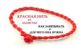 Красная нитка на левой руке правильная молитва