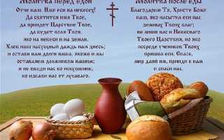 Молитва благодарность богу за еду