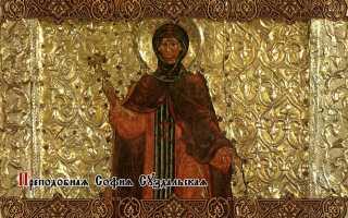 Икона софии суздальской молитва